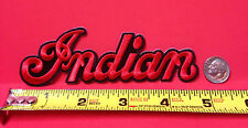 "INDIAN MOTORCYCLE EMBRD ""SCRIPT"" PATCH ~ 5"" x 1 1/2"" ~ IRON/SEW ~ NEW"