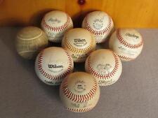 Vintage Lot of 8 Official Little League Baseballs Wilson,Dudley,Rawlings,de Beers