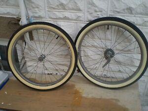 VINTAGE SCHWINN BICYCLE BIKE HORNET WHEEL SET 24in BALLOON S-2 PANTHER PHANTOM