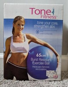 Tone Fitness 65cm Burst Resistant Exercise Ball w/Workout DVD