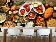 Assorted Indian Food  Photo Wallpaper Wall Mural DECOR Paper Poster Free Paste