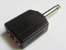 1x 6.3mm Mono Plug Audio Jack to Dual 6.3mm Mono Jack