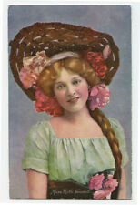 c 1907 Glamour Young RUTH VINCENT Pretty Lady Oilette postcard