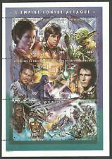 MALI 1997 STAR WARS SPACE FILMS THE EMPIRE STRIKES BACK JEDI 2 SHEETS MNH