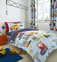 Catherine Lansfield Children's Construction Reversible Duvet Cover