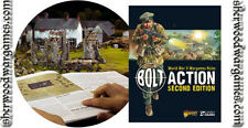28mm WWII Bolt Action Hardback v.2 Rulebook and HE template.