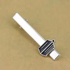 New Silver Plated BBC Doctor Who Tie Clip Whovian Enamel Wedding Gift Bag
