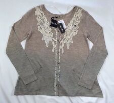 NWT Women's Miss Me Comfort Zone Ombre Taupe Cardigan Sweater-Size S Retail $74