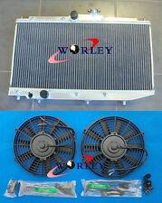 2 rows for Toyota Corolla AE90 AE92 AE94 1989-1994 1990 Aluminum Radiator + Fans