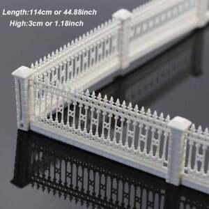"GY63087 44.88"" DETACHABLE FENCES for Model Train Railway 3x23cm 1:87 HO OO scale"