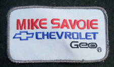 CHEVROLET MIKE SAVONE EMBROIDERED SEW ON PATCH GEO CHEVY BOWTIE CAR UNIFORM