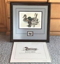 Larry Hayden 1981 Texas Duck Stamp Print Mallards Framed Matted Numbered Signed