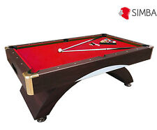 8 Ft Pool Table Billiard Playing Cloth Indoor Sports billiards table red Caesar