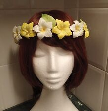 Boho  hibiscus floral head band/crown/circlet perfect for wedding / race day