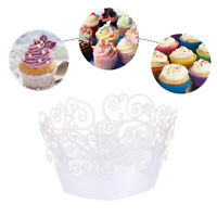 50pcs Laser Cut Cupcake Wrappers Cupcake Wrap Wedding Party Cake Decoration
