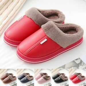Women Shoes Slippers Anti-Skid Couple Home House Indoor Men Plush Lined