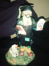 Porcelane figurine.the class clowm at .obidience school.from Emmett Kelly jr.