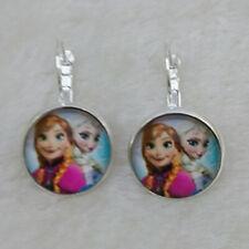 FROZEN Tibet silver Glass  Earrings ROYAL PRINCESS Anna & Elsa gift