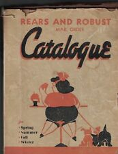 Rears and Robust Mail Order Catalogue 1940 Parody Catalog Morning Call