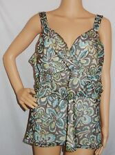"""SUZANNE GRAE"" - Great Pre Loved - Size XL - ""Blue,Green,Brown"" Sleeveless Top"