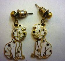 DISNEY DALMATION PUPPY ENAMEL CLOISONNE STUD EARRINGS SMALL