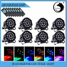 8PCS Stage Lighting 54W RGB 18 LED Par CAN DMX DJ Disco Pub Party Remote Control