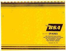 BSA Parts Manual Book 1964 & 1965 A65 Thunderbolt Rocket