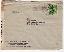 World War Ii Censored cover Chile 1942