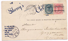 Canada 1900 Uprated Postal Stationery Card Shorey Store H&G 19 to Germany Involu