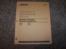 Cat Caterpillar Cs 563C Cp563C Compactor Owner Operation Maintenance Manual