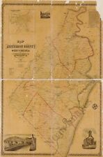 Map of Prince George County Virginia c1864 24x20