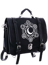 Cartable sac à dos messager de la lune avec symboles alchimiques Restyle