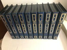 VHS Library Cases - Leather look, book style cassette storage cases x 10