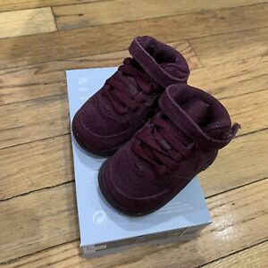 Toddler Nike Air Force 1 Mid LV8 TD Burgundy Crush Shoes 859338-600 Size 2C