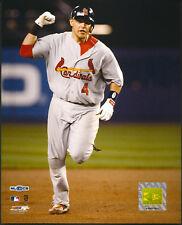 Yadi Molina Fist Pump Playoff HR St. Louis Cardinals 8x10 Photo With Toploader