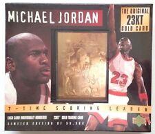 Michael Jordan Original 23K Gold Card Limited Edition # to 50,000 Factory Sealed