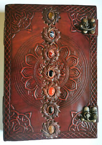 Chakra journal BOS Pagan Wiccan notebook A4 100 page crystal reiki art sketchboo
