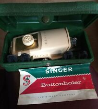 Vintage Singer Sewing Straight Needle Button Holer Model 489510 Green