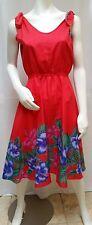 Vintage SWEETHEARTS HAWAII Red Hawaiian Floral Dress - Size L