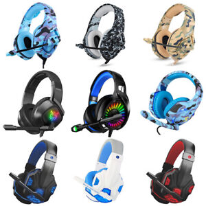 Gaming Headset LED Headphones With Mic for PC Laptop PS4 PS3 Slim Xbox One S/X