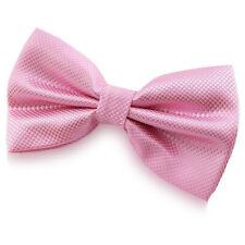 Noeud Papillon Rose en soie mélangée pour Homme ou Femme - Silk Pink Bow tie