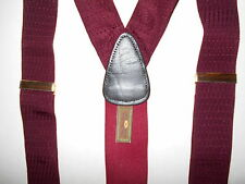 Suspenders Trafalgar Braces Purple Leather Elastic Mens 6U9