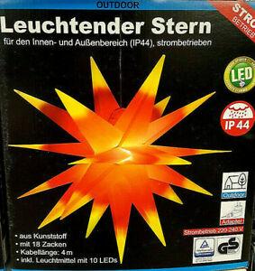 Ø50 cm SPARSAMER LED WEIHNACHTSSTERN ADVENTSSTERN LEUCHTSTERN IP44 INNEN& AUSSEN