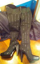Report Signature Steinway Over The Knee Boot Black sz 8 NWOB
