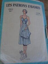 """ANCIEN PATRON """"  PATRONS FAVORIS LINGERIE COMBINAISON & CULOTTE ANNEE 1940 T 44"""