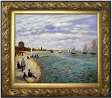 Framed Hand Painted Oil Painting Repro Monet Regatta at Sainte-Adresse, 20x24in