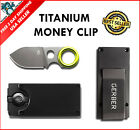Money Clip Card Holder Knife Blade Wallet Credit Id Slim Stainless Steel Genuine