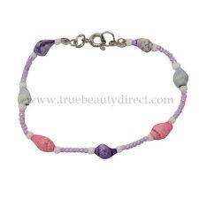 Filles Bleu Violet & Rose Shell & Bead Bracelet Nouveau voir plus de bonnes affaires dans notre Shop