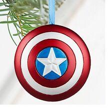 Disney Store Captain America Shield Holiday Christmas Ornament Figure Super Hero
