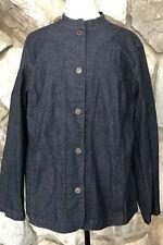 Eileen Fisher Women's Size 1X Denim Shirt Lightweight Jacket Pockets EUC